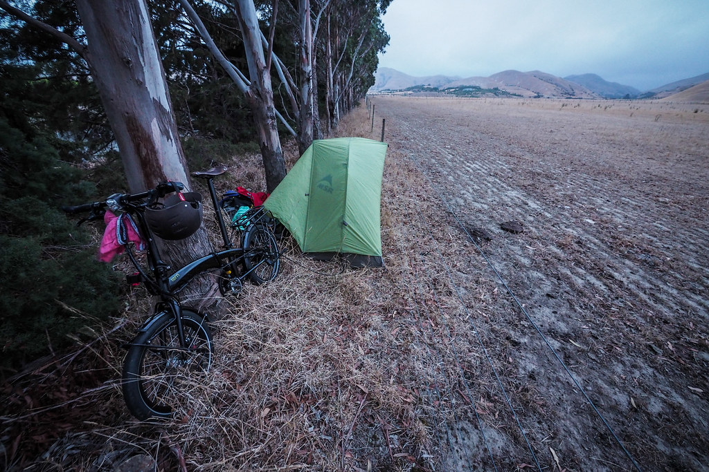 Stealth camping near Blenheim, New Zealand