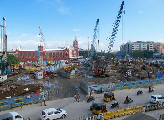 Chennai metro under construction