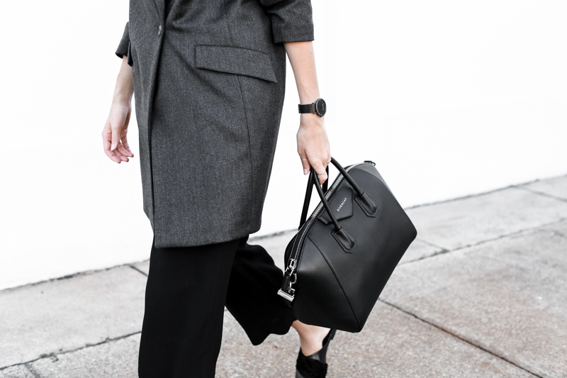 Givenchy Medium Antigona, workwear, street style, monochrome, modern legacy, fashion blog, outfit (1 of 1)