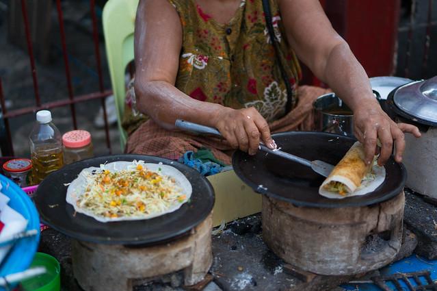 dosai yangon street food