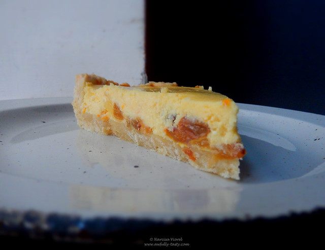 tarta cu branza, stafide si portocale