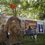 The Big Friendly Willow Sculpture | Willow artist David Powell is joined by Story Box helpers to create a giant willow sculpture of Roald Dahl's Big Friendly Giant © Robin Mair