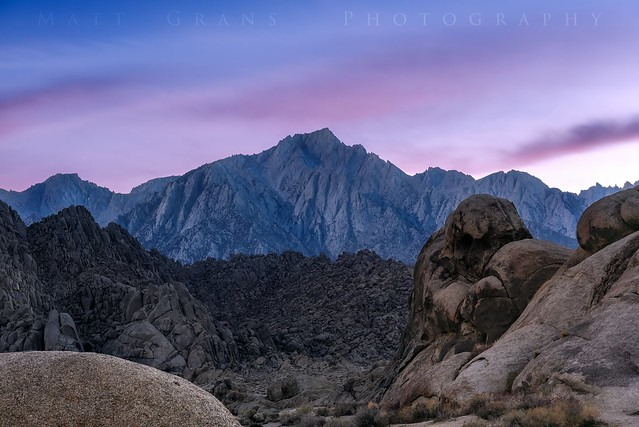 Twilight over Lone Pine Peak