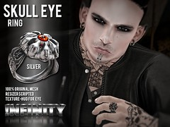 !NFINITY Skull Eye Ring @ Men Only Monthly October
