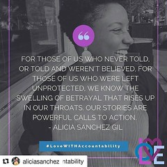 #Repost @aliciasanchez with @repostapp ・・・ I submitted a piece to The Feminist Wire about child sexual abuse and weaving networks of care and healing for survivors. :sparkles: read more here: http://ift.tt/2duUArn October 21, 2016 at 11:36PM