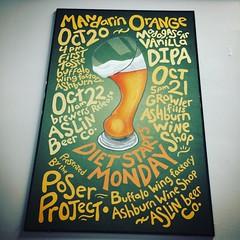 diet starts monday #mandarinorange #madagascarvanilla #dipa #aslin #aslinbeerco @aslinbeerco #posterart #buffalowingfactory @buffalowingfactory #ashburnwineshop @ashburnwineshop #theposerproject