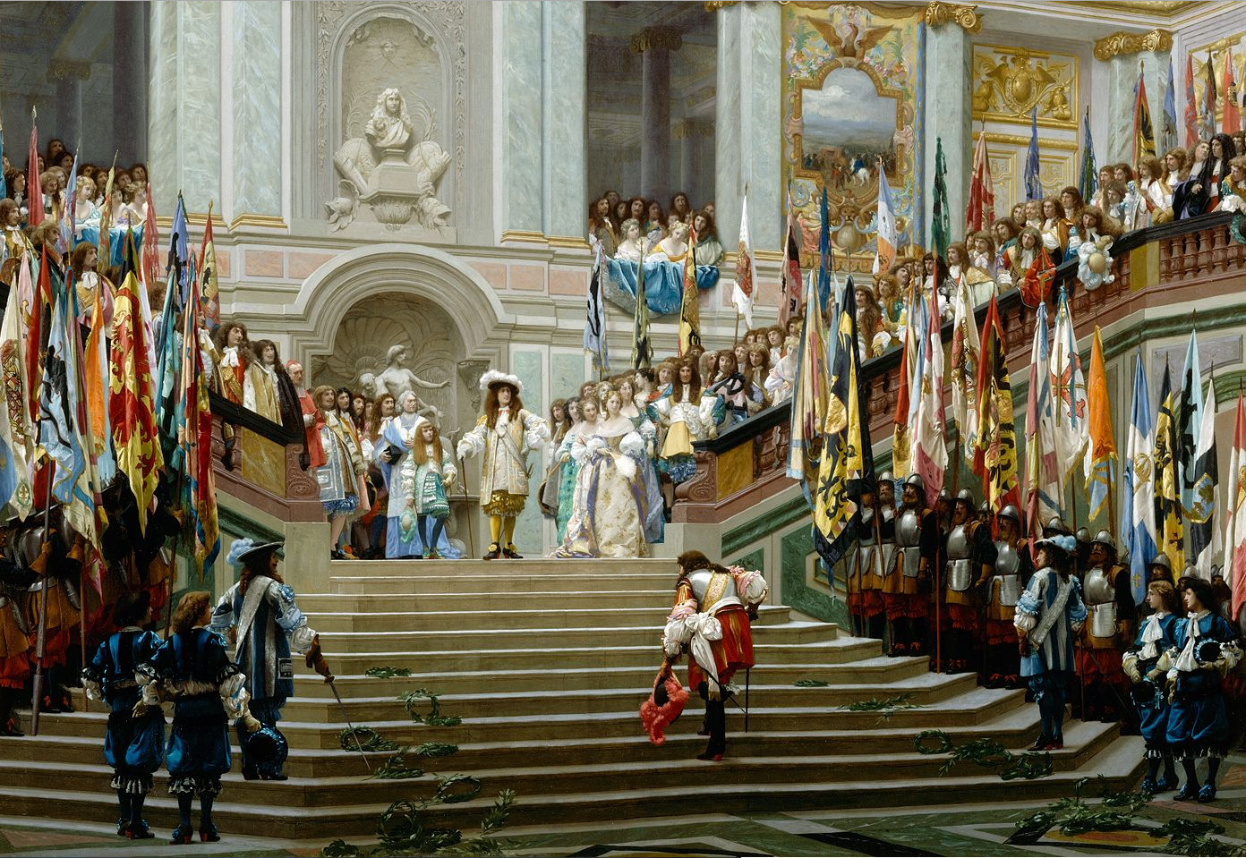 Grand Condé's reception in Versailles by Jean-Léon Gérôme