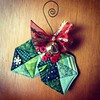 Ready to Hang on the Tree #Ihatesewingbuttons #quiltedornament #ornament #Christmas