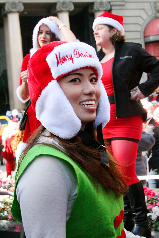 Smiling Woman at Santacon SF