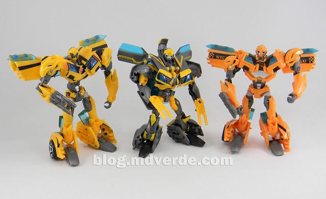 Transformers Shadow Strike Bumblebee Deluxe - Transformers Prime RID - modo robot vs otros Bumblebee