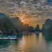 Halong Bay at Dawn by Tati@