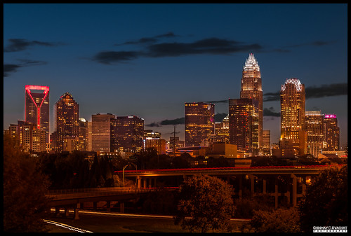 charlotte skyline centalavenue longexposure nightphotography northcarolina usa nc uptown canon rebel t5i 700d 1855stm kitlens landscape city us unitedstatesofamerica america northamerica na dslr photography chinmayavachatphotography cap copyright allrightsreserved american moments creative commons flickr flickriver explore best camera art lens photooftheday picoftheday beautiful composition potd pictureoftheday wow