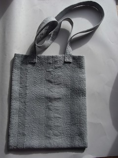 Tote, free motion quilting, hand dyed, Hilary Florence