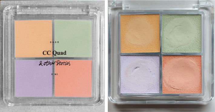 and other stories cc quad concealer review tutorial swatches