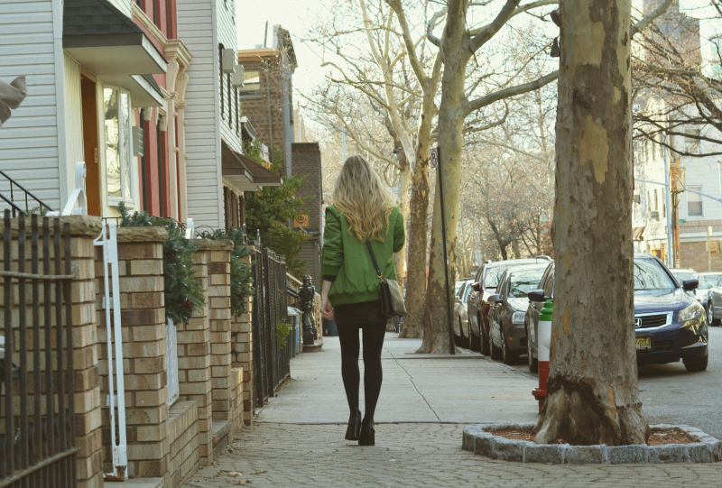 GreenBomberJacket_UrbanOutfittersBooties_Brooklyn_Williamsburg