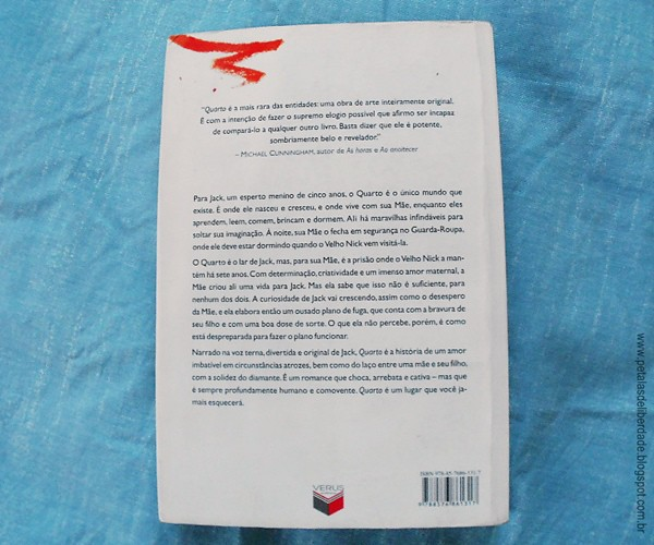 Contracapa, Resenha, livro, Quarto, Emma Donoghue, sinopse, trechos