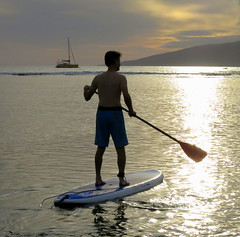 surface water sports, sports, sea, boating, water sport, stand up paddle surfing, surfboard, paddle,