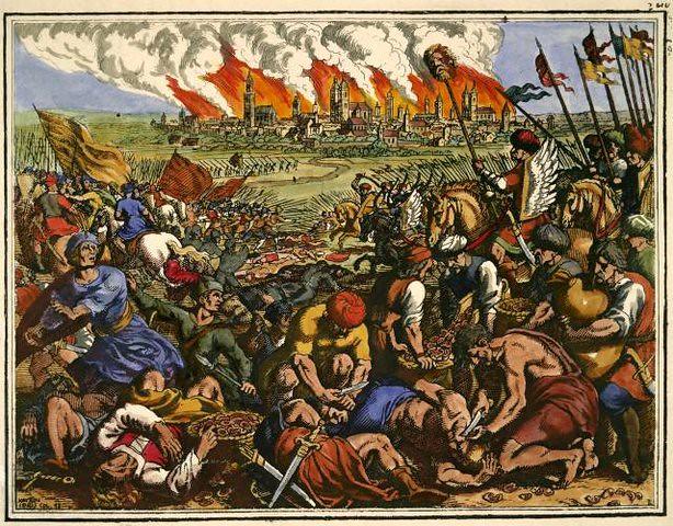 Battle of Legnica by Matthäus Merian the Elder