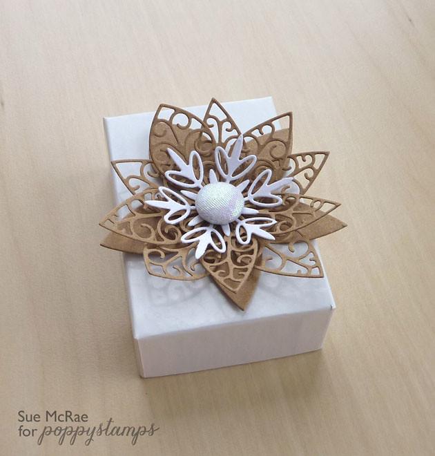 Poinsettia & Frozen Flakes Box
