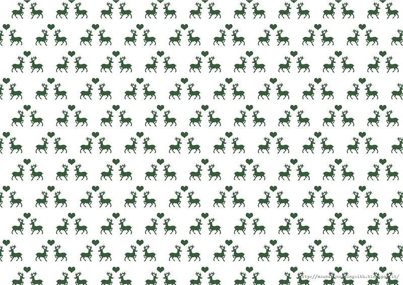 carta regalo natalizia renneverde wrap green