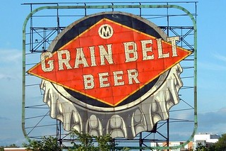 Beer signs in the grain belt
