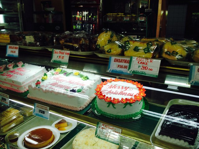 Cakes in Merced Bakeshop in Quezon CIty Philippines