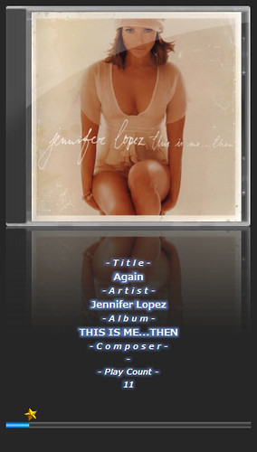 """jlo-1 """"Jennifer Lopez"""" さんのアルバムである """"THIS IS ME...THEN"""" のアートワークが表示された音楽再生ソフトウェアのfoobar2000のスクリーンショット画像。"""