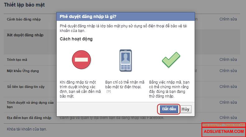 Các hoạt động bảo mật Facebook