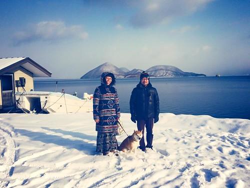 洞爺湖にて (at Lake Toya)
