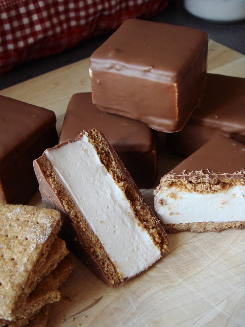 Milk Chocolate S'mores Bar with Mesquite Smoked Malted Marshmallow
