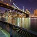 Lower Manhattan and the Brooklyn Bridge at night by Rich Williams ©™