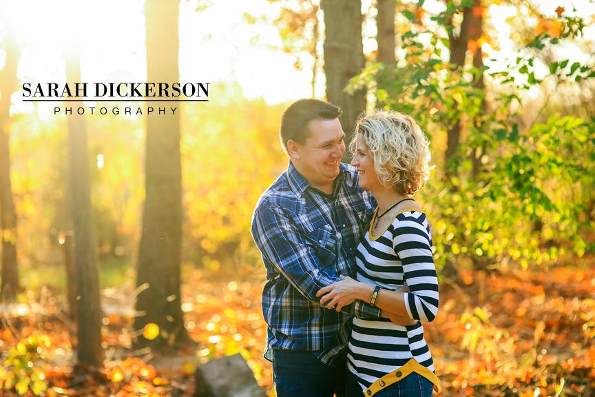 Kansas City fall engagement session