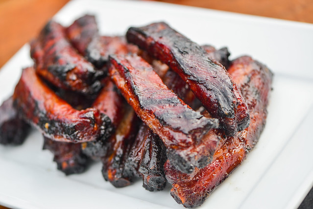Char siu sauce gives Chinese-style spare ribs that distinct reddish ...