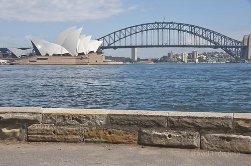【写真】世界一周 : オペラハウス、ハーバーブリッジ(ミセス・マッコーリーズ・ポイントより)