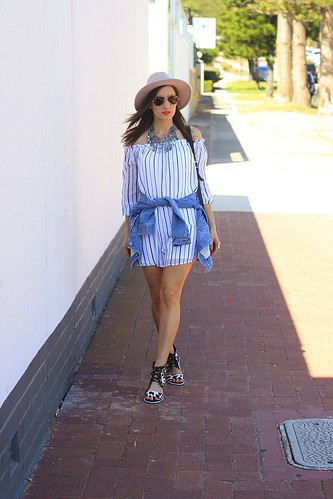 Off the Shoulder dress from Cotton On