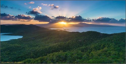 sunset martinique caribbean