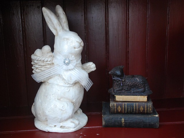Prim Bunny and Black Wax Sheep