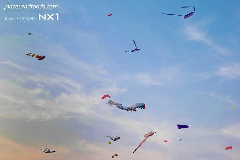 satun kite festival sunset