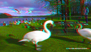 Gartmorn dam (3d view with red/blue glasses)