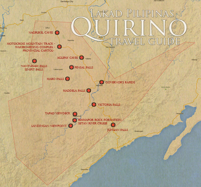 Quirino Tourist Spots Map