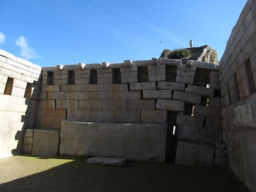 Machu Picchu: le Grand Temple, qui présente 7 niches au fond, comme à Pisac