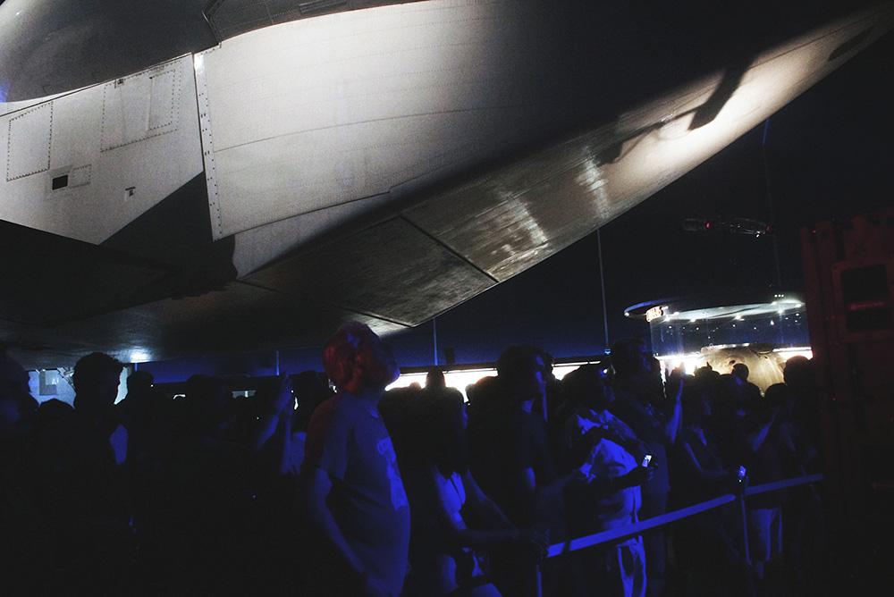 Public Service Broadcasting BTS on Intrepid Museum