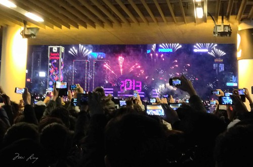 Fireworks in Hong Kong on NYE