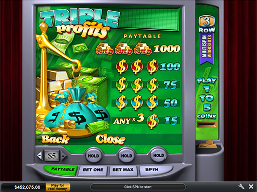 free Triple Profits slot payout