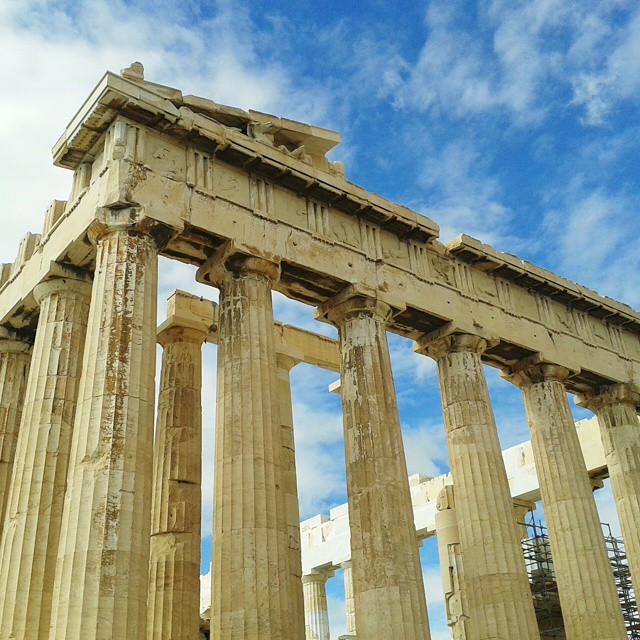 The magnificent Parthenon at Acropolis Athens transported me 2000+ years into history.