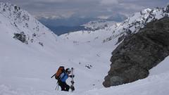 Podejście na Col De La Chaux.