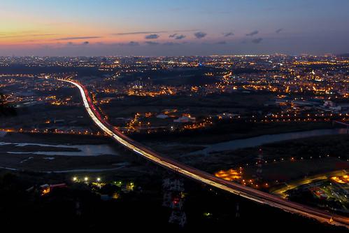 canon taiwan taipei nightscene nightview 台灣 台北 夜景 鶯歌 1022 三峽 北二高 650d 鳶山 國道三號