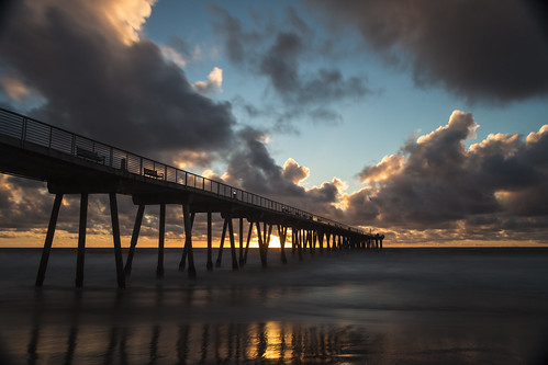 ocean longexposure seascape storm water landscape pier