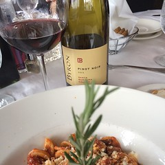 Lunch meeting at #Giuseppis @byron #pinot