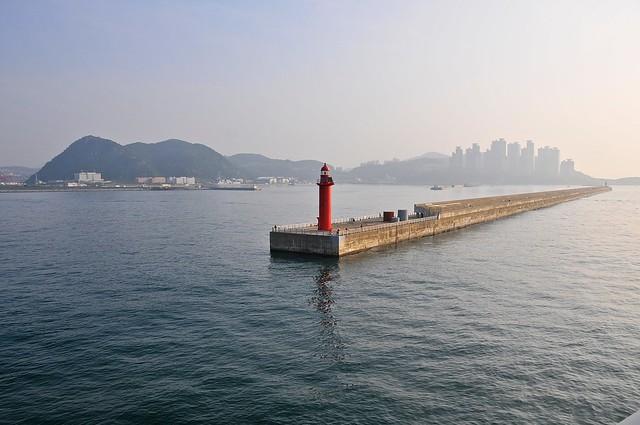 Entering Busan harbour